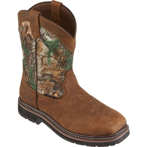 Brazos Men's Bandero Camo Square Steel-Toe Wellington Work Boots - view number 2