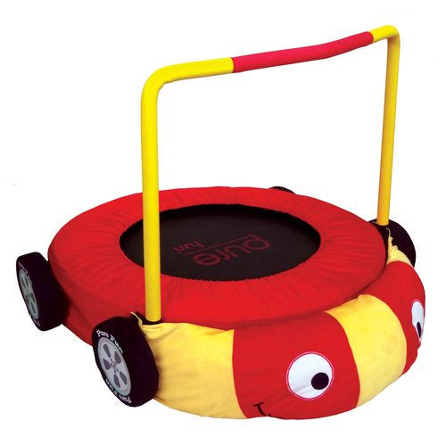 "Pure Fun Kids' 36"" Round Plush Race Car Trampoline"
