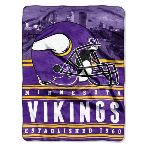 The Northwest Company Minnesota Vikings Stacked Silk Touch Throw