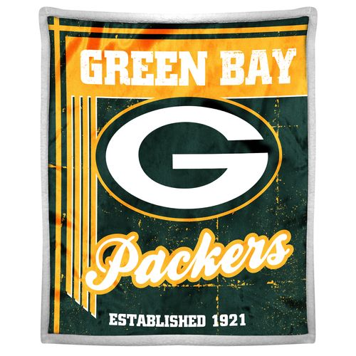 The Northwest Company Green Bay Packers Old School Mink with Sherpa Throw
