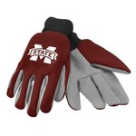 Team Beans Adults' Mississippi State University 2-Color Utility Gloves