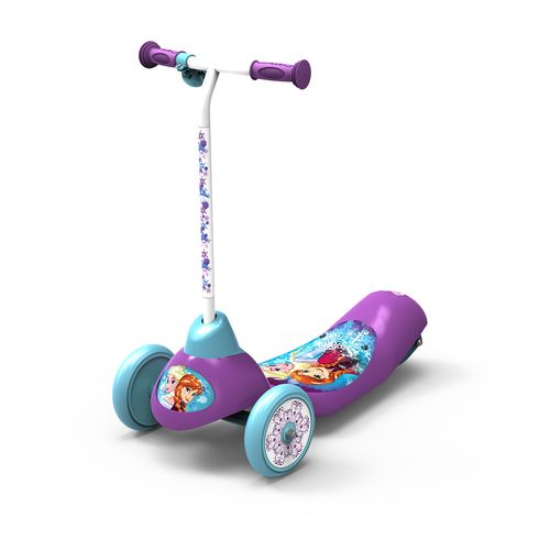 Disney frozen girls 39 safe start 3 wheel electric scooter for Motorized scooter disney world