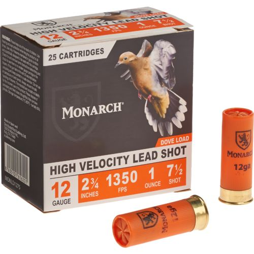 Monarch Light Dove 12 Gauge #7 1/2 Shotshells 250-Round Case