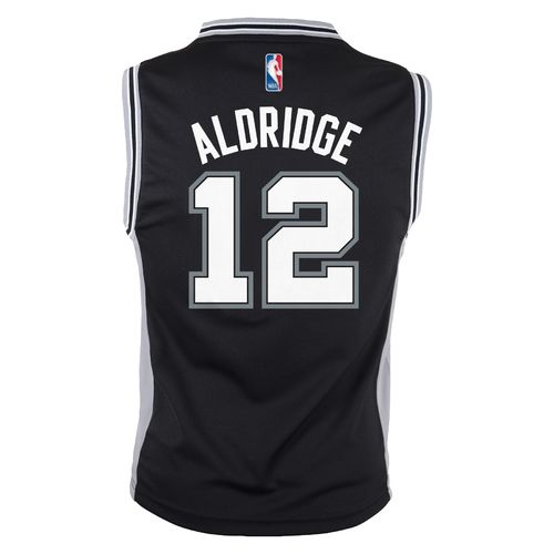 adidas Boys' San Antonio Spurs LaMarcus Aldridge No. 12 Replica Jersey