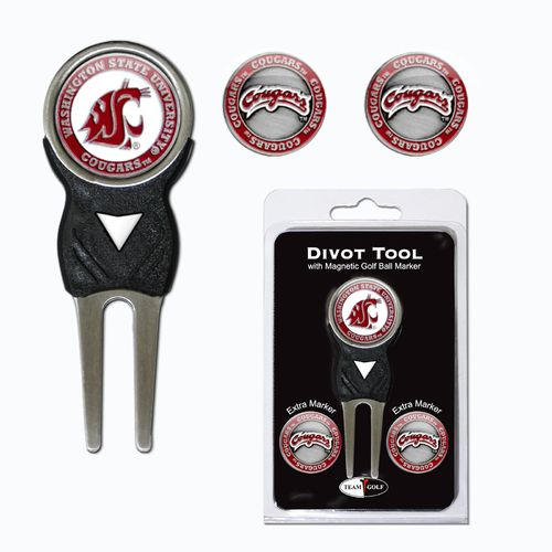 Team Golf Washington State University Divot Tool and Ball Marker Set - view number 1