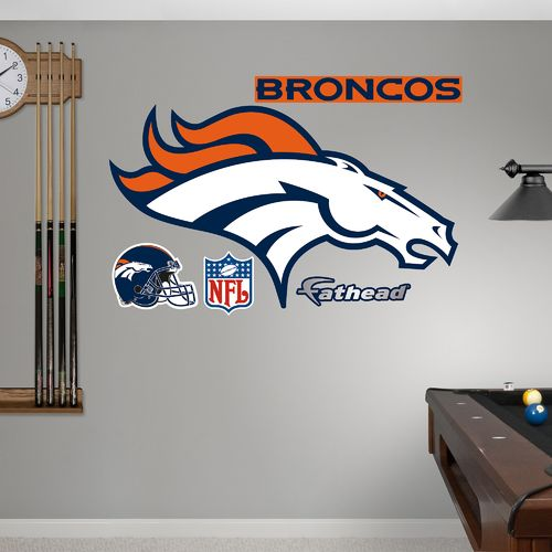 Fathead Denver Broncos Real Big Team Logo Decal