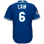 Majestic Men's Kansas City Royals Lorenzo Cain #6 2015 World Series Jersey