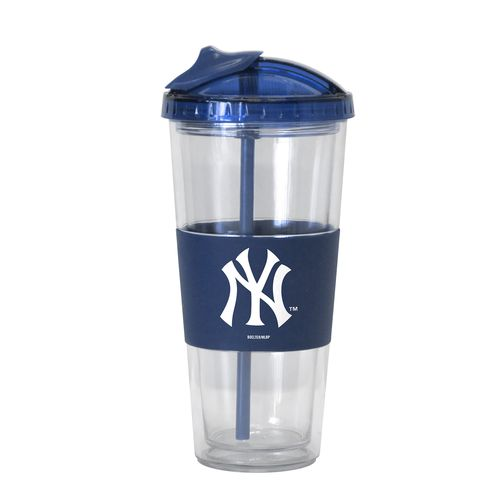 Boelter Brands New York Yankees 22 oz. No-Spill Straw Tumblers 2-Pack