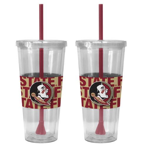 Boelter Brands Florida State University Bold Neo Sleeve 22 oz. Straw Tumblers 2-Pack