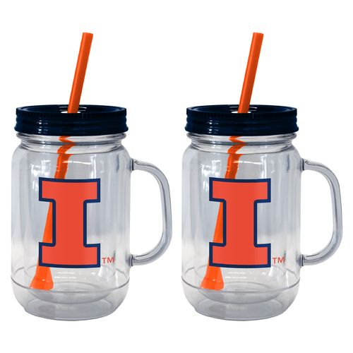 Boelter Brands University of Illinois 20 oz. Handled Straw Tumblers 2-Pack
