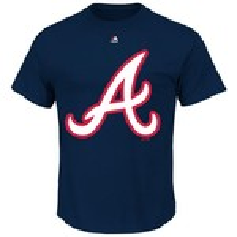 Majestic Men's Atlanta Braves Official Logo T-shirt