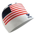 TYR Adults' USA Silicone Swim Cap