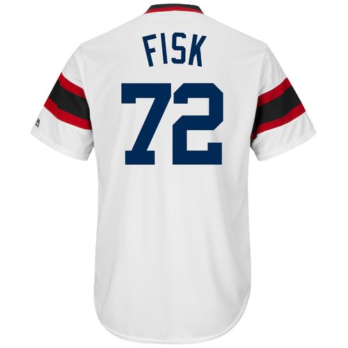 Majestic Men's Chicago White Sox Carlton Fisk #72 Cooperstown Cool Base 1981-85 Replica Jersey