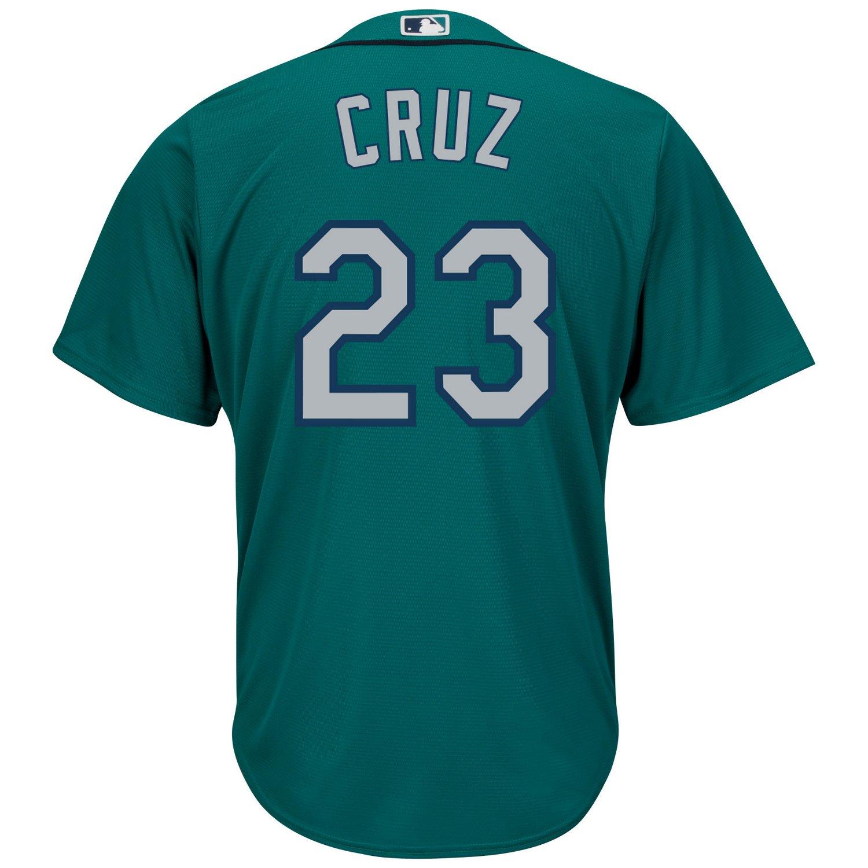 Majestic Men's Seattle Mariners Nelson Cruz #23 Cool Base Replica Jersey