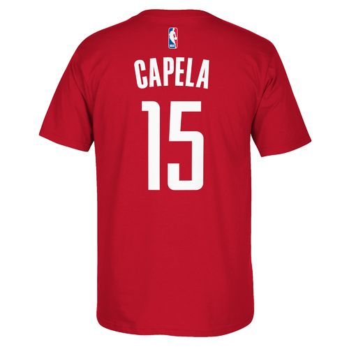 adidas™ Men's Houston Rockets Clint Capela #15 Short Sleeve T-shirt