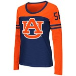 Colosseum Athletics™ Women's Auburn University Hornet Football Long Sleeve T-shirt