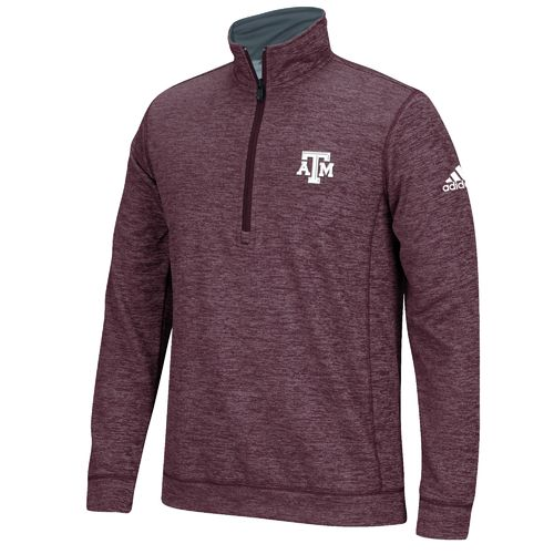 adidas™ Men's Texas A&M University climawarm™ Team Issue 1/4 Zip Pullover