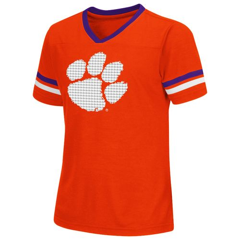 Colosseum Athletics™ Girls' Clemson University Titanium T-shirt