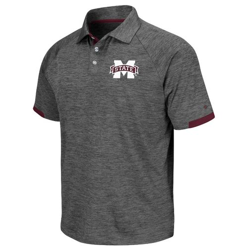 Colosseum Athletics Men's Mississippi State University Spiral Polo Shirt