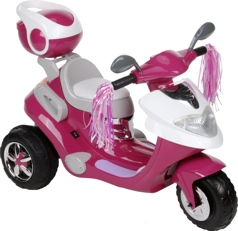RollPlay Girls' 6V 3-Wheel Motorized City Scooter