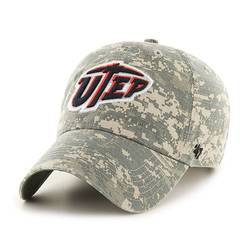 '47 University of Texas at El Paso Officer Camo Clean-Up Cap
