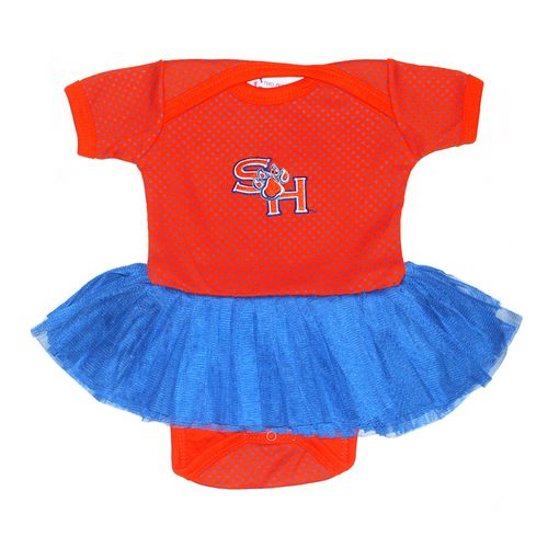 Two Feet Ahead Infant Girls' Sam Houston State University Pin Dot Tutu Creeper