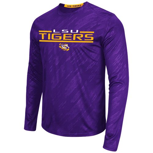 Colosseum Athletics™ Men's Louisiana State University Sleet Embossed Long Sleeve T-shirt