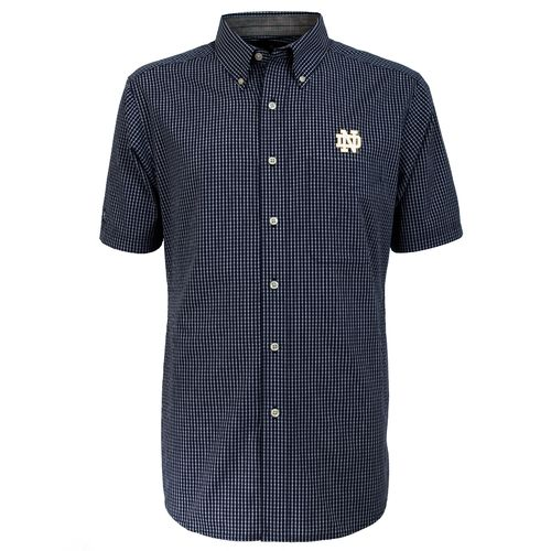 Antigua Men's University of Notre Dame League Short Sleeve Shirt
