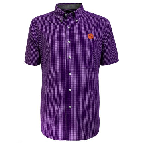 Antigua Men's Clemson University League Short Sleeve Shirt - view number 2