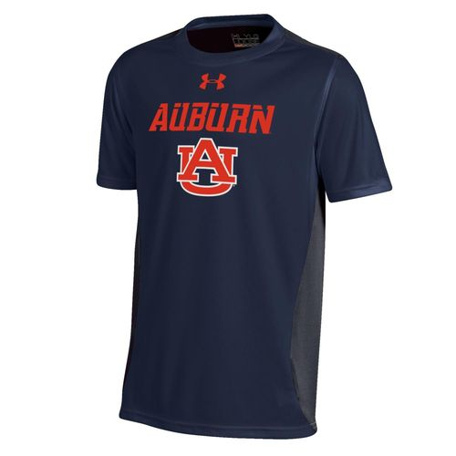 Under Armour™ Boys' Auburn University Short Sleeve Colorblock T-shirt