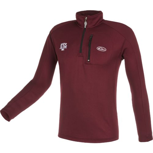 Drake Waterfowl Men's Texas A&M University BreathLite 1/4 Zip Pullover - view number 1