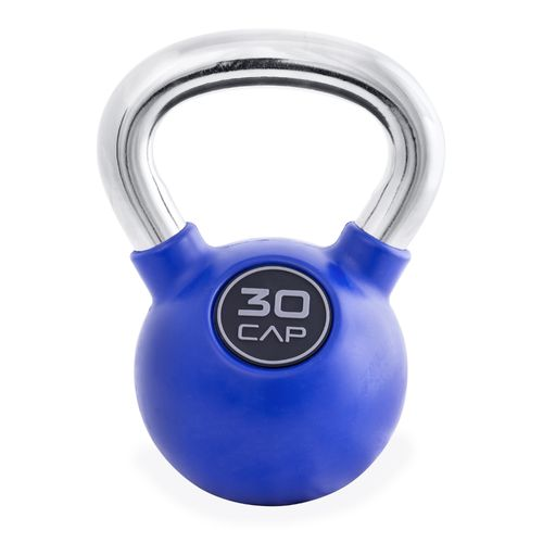 CAP Barbell Rubber-Coated 30 lb. Kettlebell with Chrome