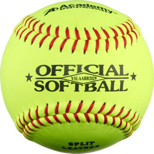 "Academy Sports + Outdoors™ Youth 11"" Leather Softballs 6-Pack"