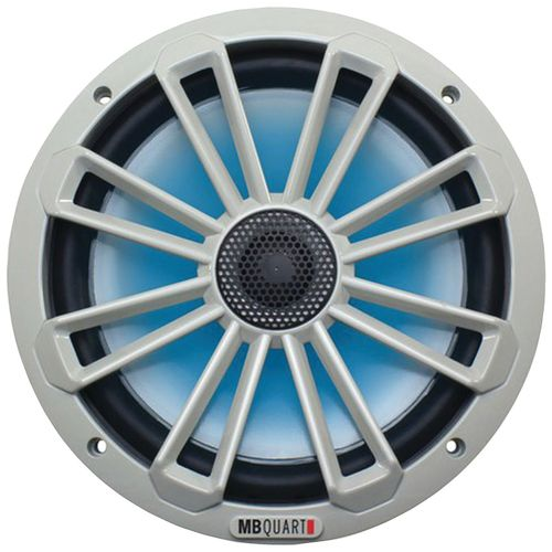 MB Quart Nautic Series 140W 8' 2-Way Coaxial Marine Speaker with LED Illumination