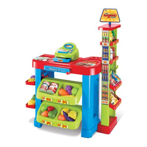 World Tech Toys 47-Piece Supermarket Playset