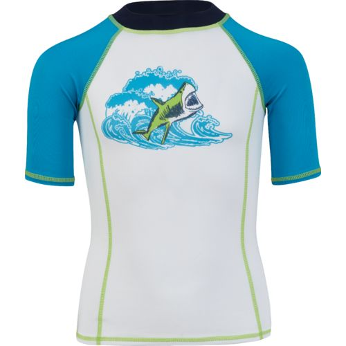 O'Rageous Boys' Jaws Short Sleeve Rash Guard