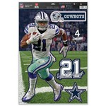 WinCraft Dallas Cowboys Ezekiel Elliott 4-Piece Player Decal Set - view number 1
