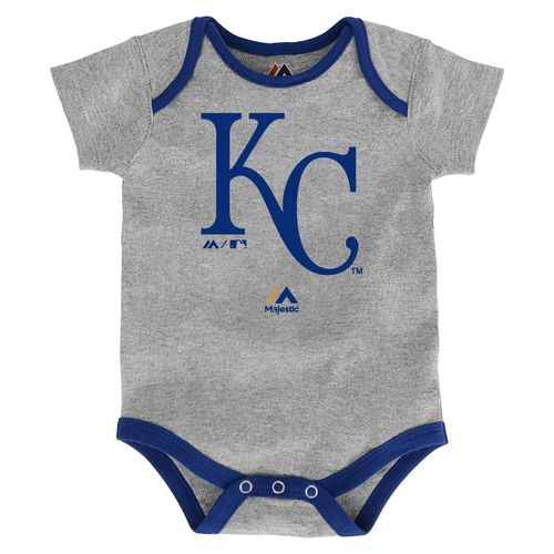 Majestic Infants' Kansas City Royals Home Run Onesies 3-Pack