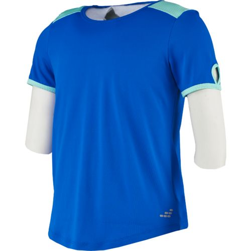 BCG Girls' Mesh Yoke Short Sleeve Top