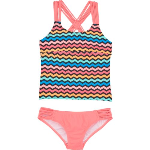 O'Rageous Kids Girls' Get Ziggy With It 2-Piece Tankini Swimsuit
