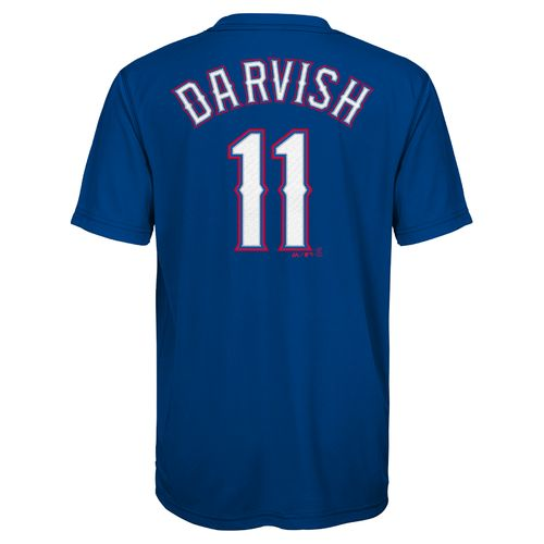 MLB Boys' Texas Rangers Yu Darvish 11 Name and Number T-shirt