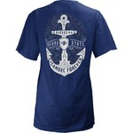 Three Squared Juniors' Indiana State University Anchor Flourish V-neck T-shirt - view number 1