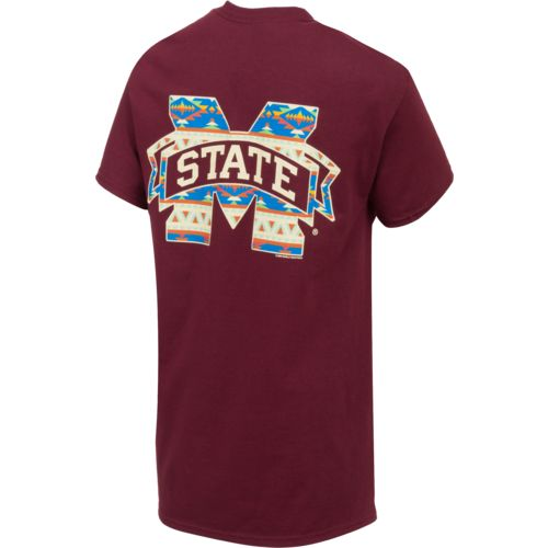 New World Graphics Women's Mississippi State University Logo Aztec T-shirt - view number 2
