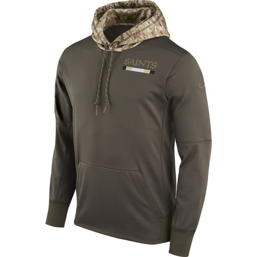 Nike Men's New Orleans Saints Salute to Service Therma-FIT Pullover Hoodie