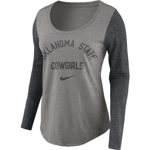 Nike Women's Oklahoma State University Heavyweight Elevated Essentials Long Sleeve T-shirt