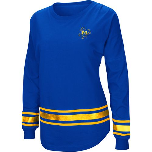 Colosseum Athletics Women's McNeese State University Humperdinck Oversize Long Sleeve T-shirt