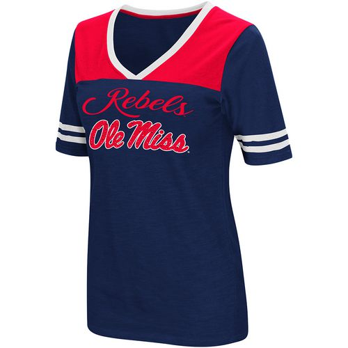 Colosseum Athletics Women's University of Mississippi Twist 2.1 V-Neck T-shirt