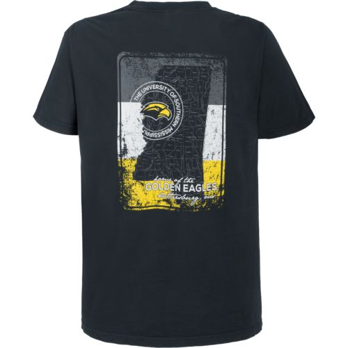 Image One Men's University of Southern Mississippi State Map T-shirt