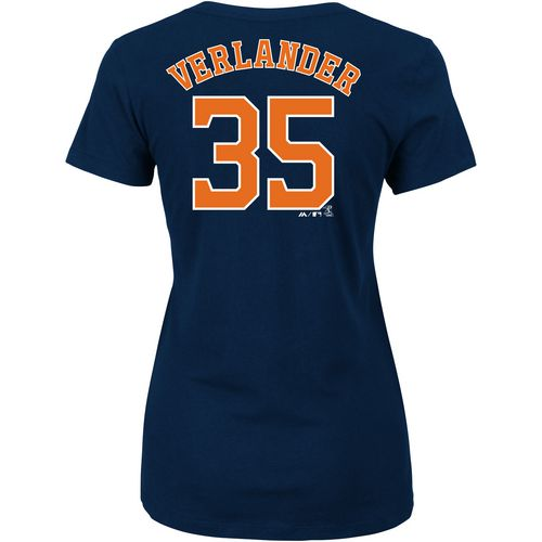 Majestic Women's Astros Verlander Official Name and Number T-Shirt