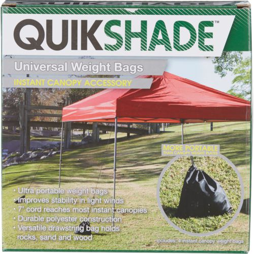 Quik Shade Canopy Weight Bags 4-Pack & Quik Shade Portable Shade | Academy